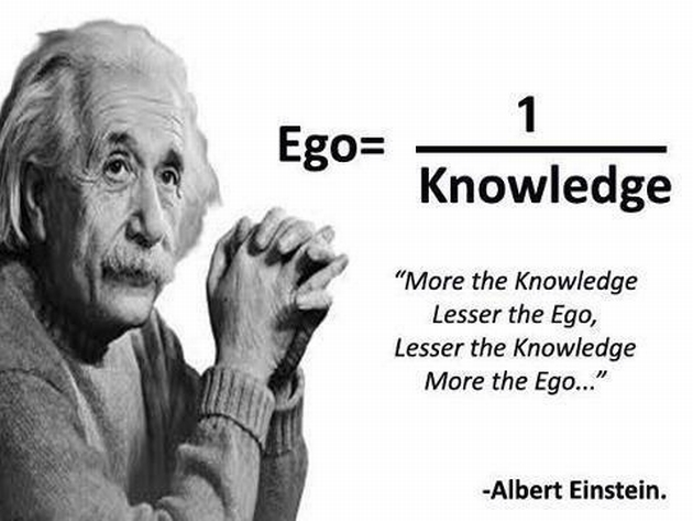 ego over knowledge